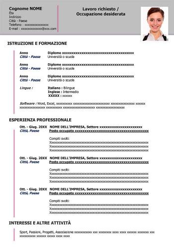 curriculum-vitae-esempio