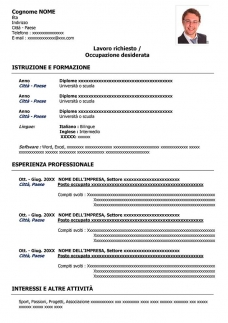 50 Modelli Di Curriculum Vitae Da Compilare In Word Gratis