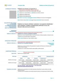 Curriculum Vitae Formato Word Classici Da Scaricare Gratis