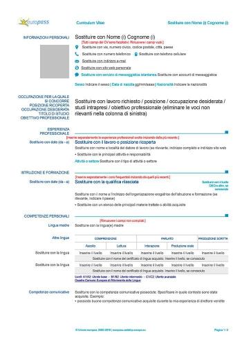 cv-europass-italiano-gratis-da-compilare