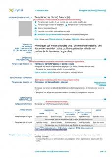 cv-europass-francese-da-compilare-gratis