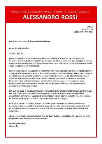 lettera di presentazione grafico