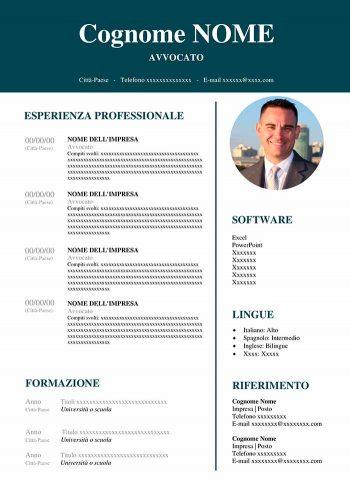 97-curriculum-vitae-avvocato-1-350x495 Formato Europeo Per Il Curriculum Vitae Da Compilare on